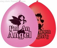 23cm Good Girl Bad Girl Balloons - Hen Night Angel Party Pk10 Devil Accessories