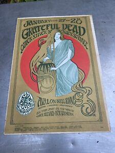 The Grateful Dead Avalon Ballroom Concert Poster Family Dog Mouse & Kelly Lobby