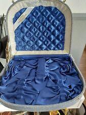 Besteckkasten  - leer - blau außen und innen blau gefüttert! 12 Bestecke