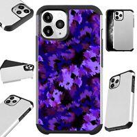 Fusion Case For iPhone 12/Mini/Pro Max Phone Cover PURPLE ARTISTIC CAMOUFLAGE