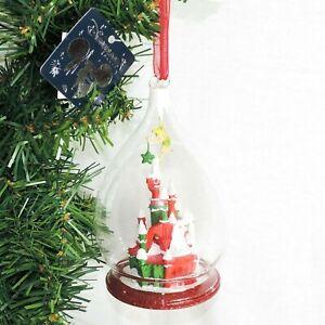DISNEY Ornament SCHLOSS Tinkerbell TROPFEN Glaskugel Weihnacht Disneyland PARIS