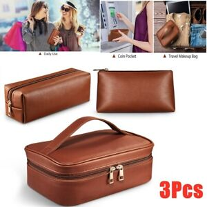 Women Girls Make Up Bag Vanity Case Travel Cosmetic Organiser Beauty Storage Box