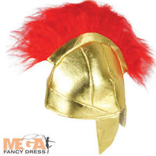 Roman Helmet Kids Fancy Dress Spartan Soldier Boys Childrens Costume Accessory
