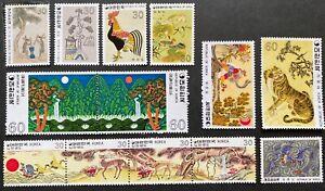 South Korea 1980 Folk Paintings Complete series of 13 stamps MUH