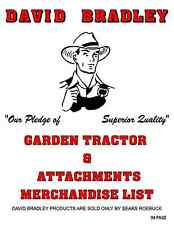 David Bradley Garden tractors and attachments for TRI-TRAC'S & wall behind