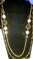 Vintage Goldtone Sarah Coventry 8951 2 Strand Necklace