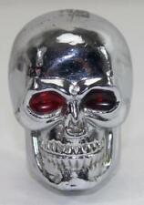 Vintage Skull Gear Shift Knob with Red Eyes ~ Rat Rod, Hod Rod, Harley, Indian