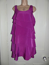 Gorgeous purple Signature Next Petite tiered knee length dress size 10
