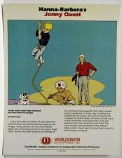 Vintage Hanna Barbera Style Guide PRINT - JONNY QUEST Rare Original Worldvision