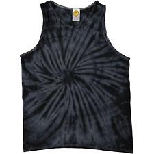 Colortone Spiral Tie Dye Tank Top Black