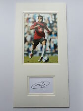 Patrice Evra Manchester United Hand Signed Photo Mount Display.