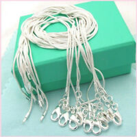 Wholesale Lots Women 925 Solid Silver Snake Chain Necklace For Pendant 16-28 in