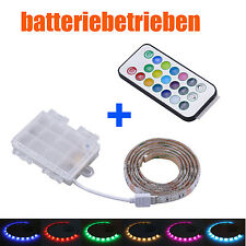 batterie betrieben LED RGB Strip + Fernbedienung mehrfarbig Leiste + controller