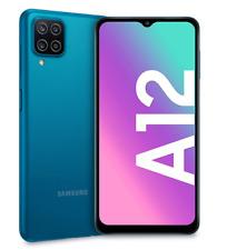 "SAMSUNG GALAXY A12 BLUE 128GB ROM 4GB RAM DUAL SIM ANDROID DISPLAY 6.5"" HD"