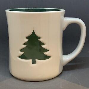 Starbucks Coffee 2008 Christmas Green Tree 12 Oz Mug Cup Embossed/debossed