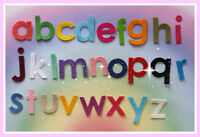 Iron on Die Cut Felt Alphabet Set, lower case