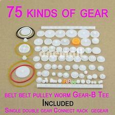 75PCS/lot Plastic gear,rack, pulley, belt,Worm gear,Single and double gear