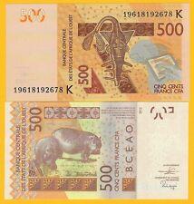 West African States 500 Francs Senegal (K) p-719K 2019 UNC Banknote