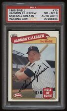1989 Swell Baseball Greats Harmen Killebrew PSA 8 auto PSA/DNA