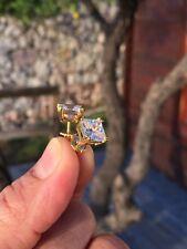 Mens & Ladies 14K Gold Finish 1.50 ct. Lab Diamond Screw Back Stud Earrings 6mm