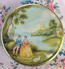 George W. Horner Courting Couple Country Scene Small Tin GC