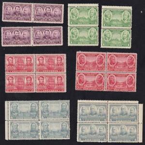 USA 1936-1937 Army & Navy issues, MNH lot of blocks/pairs, sc#785-793  [U118]