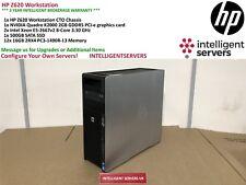 HP Z620 Workstation 2x Xeon E5-2667 V2 3.30GHz 192GB DDR3 500GB SSD Quadro K2000