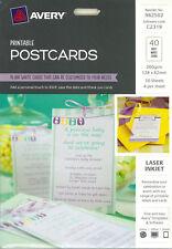 Avery Printable Postcards Matt White 40pk (982502)