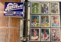 1988 Topps Baseball complete set in binder With Traded Set