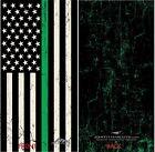USA Thin Green Line Flag Face Cover Shield Mask Head Buff Gaiter