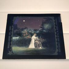 1906 Antique Magic Lantern Glass Silent Movie Slide Color Lithograph Moore-Bond