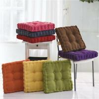 Corduroy Square Office Dining Chair Pad Seating Tatami Pillow Floor Cushions