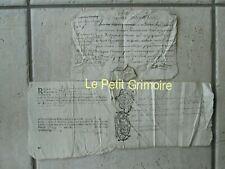 3 DOC MS 1685/1707/1719 : Reçu, droits sur le cidre, grenier à sel.