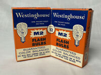 Lot of NOS Vintage Flash bulbs Westinghouse M2. GE 5B Original Box
