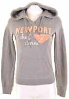 HOLLISTER Womens Hoodie Jumper Size 10 Small Grey Cotton  JZ15