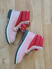 WOMEN'S TIMBERLAND PINK Leather 650 BOOTS WOMEN'S SIZE sz 6