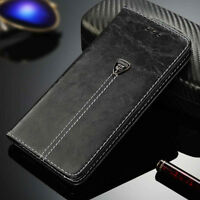 Retro Flip Leather Case Magnetic Card Holder Wallet Cover For iPhone/Samsung