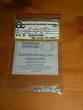 (5) ATC RF 3.6pF Capacitors Tol C 100B3R6CMS