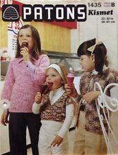 "Patons Vintage Children's Jacket & Top's Kismet KNITTING PATTERN 1435 -22-32"""