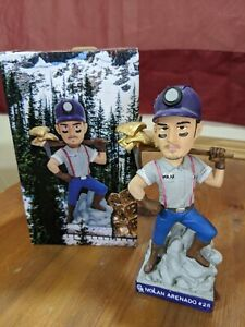 Nolan Arenado Gold Glove Miner Bobblehead Colorado Rockies Collectible