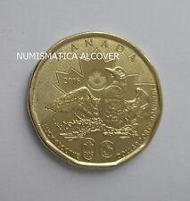 CANADA 1 dolar dollar 2016 Lucky Loonie Brazil Olimpic Games - UNC