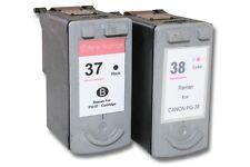 2x CARTUCHO TINTA negro y color para CANON PG-37 CL-38 Pixma mp190 mp210