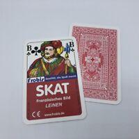 5 Skat Kartenspiele edle Leinen Qualität Französisches Bild, Spielkarten Frobis