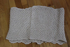 NO BRAND KNITTED INFINITY SCARF IVORY  SOFT YARN  GOES TWICE AROUND THE NECK NEW