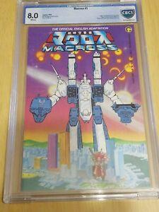 CBCS Graded 8.0 , Comico Macross No. 1, 1984, Robotech, Space Fortress Macross