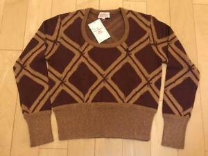 Vivienne Westwood RED LABEL Women's Knit Sweater Brown x Purple Size 2 Japan