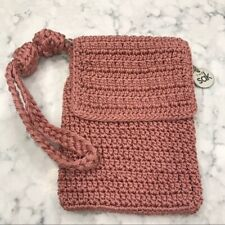 The Sak Mauve Crossbody Purse Clutch Wristlet Pink Holiday Casual Fun Party Boho