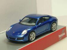 Herpa Porsche 911 Carrera 2 Coupe, Sapphire Blue Metallic - 038522 - 1/87