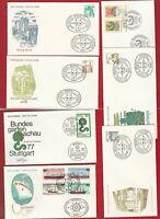 BRD BUND (919 16) TOB AUSWAHL LOT ERSTTAGSBRIEFE  1977 1978 MIT SCHIFFEN