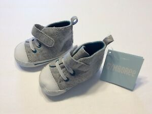 Nwt Gymboree Boys Crib Shoes Size 2 Gray Soft Booties Infant